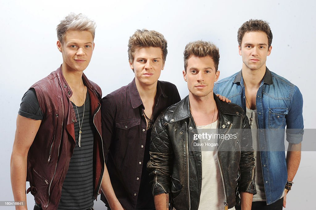 Andy Brown, <a gi-track='captionPersonalityLinkClicked' href=/galleries/search?phrase=Joel+Peat&family=editorial&specificpeople=7078660 ng-click='$event.stopPropagation()'>Joel Peat</a>, Ryan Fletcher and <a gi-track='captionPersonalityLinkClicked' href=/galleries/search?phrase=Adam+Pitts&family=editorial&specificpeople=7078662 ng-click='$event.stopPropagation()'>Adam Pitts</a> of Lawson pose for a portrait on December 8, 2012 in London, England.