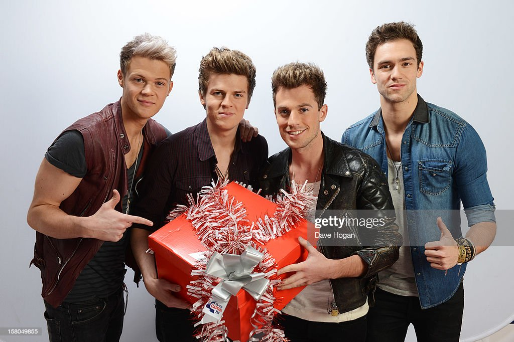 Andy Brown, <a gi-track='captionPersonalityLinkClicked' href=/galleries/search?phrase=Joel+Peat&family=editorial&specificpeople=7078660 ng-click='$event.stopPropagation()'>Joel Peat</a>, Ryan Fletcher and <a gi-track='captionPersonalityLinkClicked' href=/galleries/search?phrase=Adam+Pitts&family=editorial&specificpeople=7078662 ng-click='$event.stopPropagation()'>Adam Pitts</a> of Lawson poses for a portrait at The Capital FM Jingle Bell Ball at The O2 Arena on December 9, 2012 in London, England.