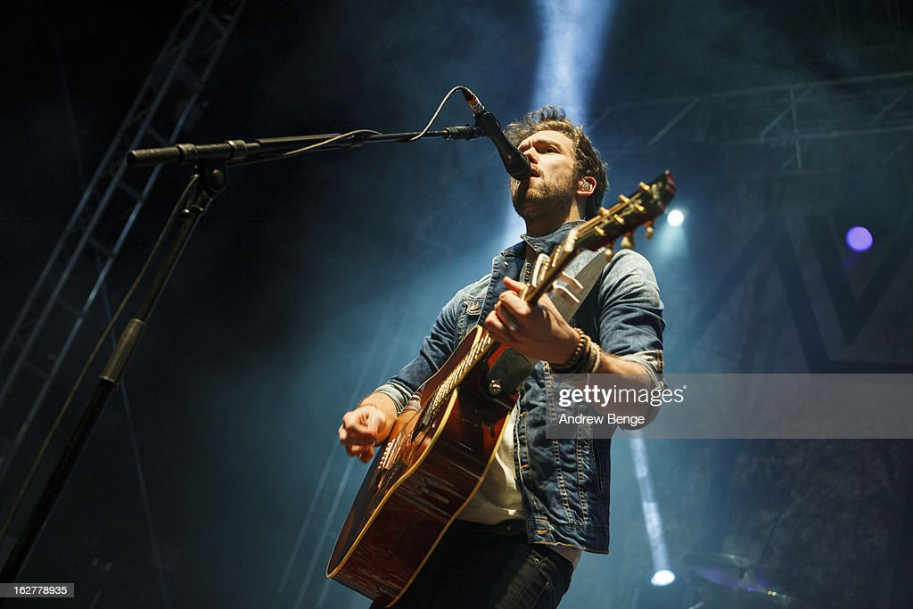 Andy Brown of Lawson perform on stage at O2 Academy on February 26, 2013 in Leeds, England.