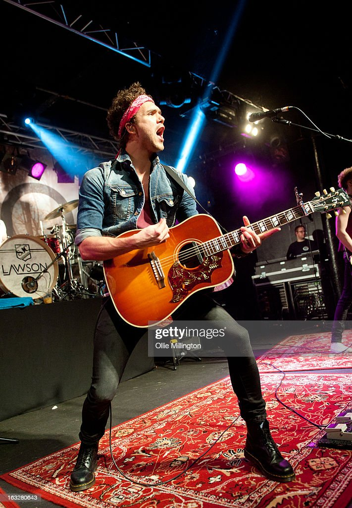 Andy Brown of Lawson performs during a sold out show on their Chapman Square Tour at Rock City on March 6, 2013 in Nottingham, England.