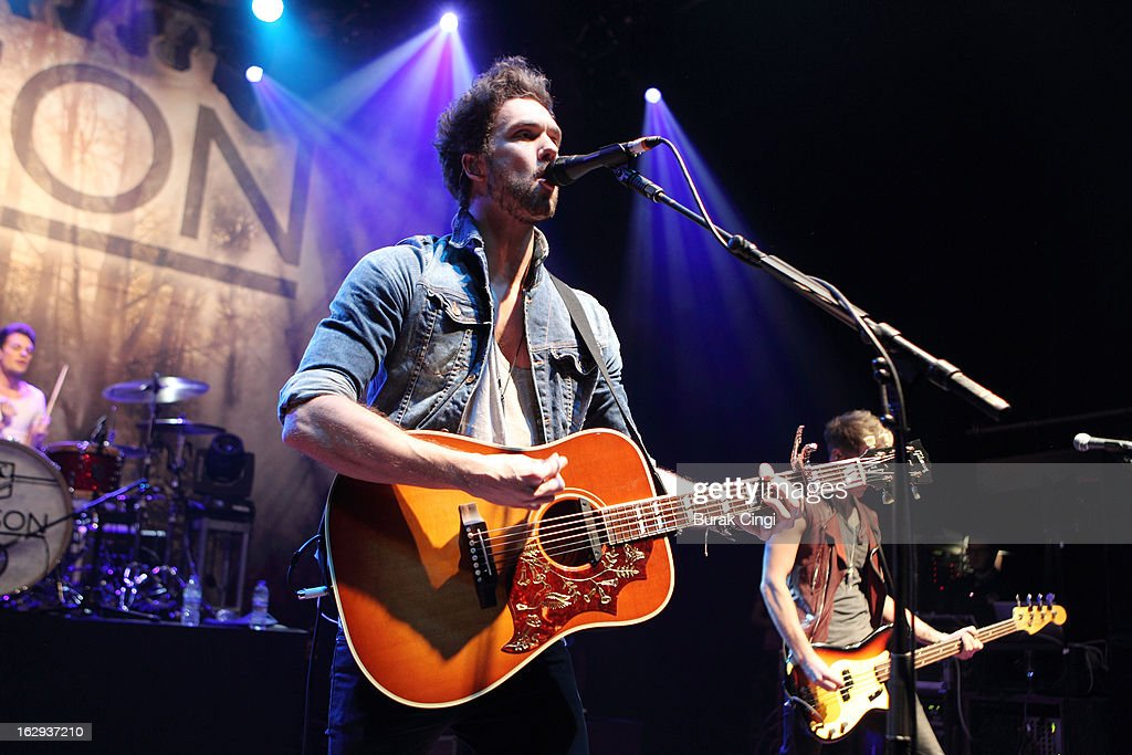 Andy Brown of Lawson performs on stage at O2 Shepherd's Bush Empire on March 1, 2013 in London, England.