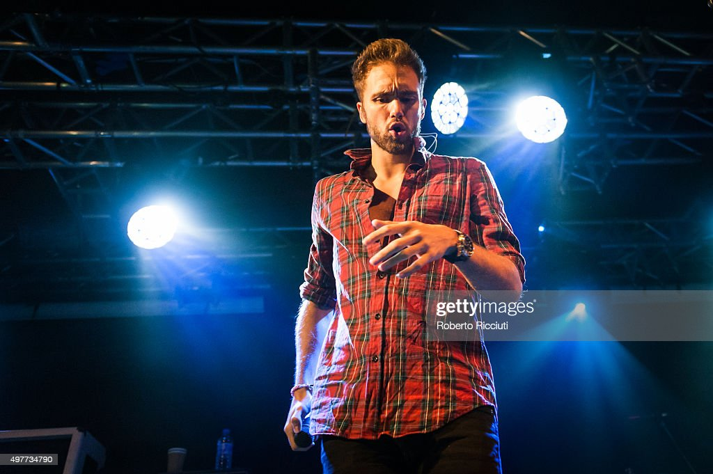 Andy Brown of Lawson performs on stage at The Liquid Room on November 18 2015 in Edinburgh Scotland