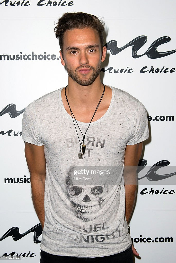 Andy Brown of Lawson visits Music Choice on August 22, 2013 in New York City.