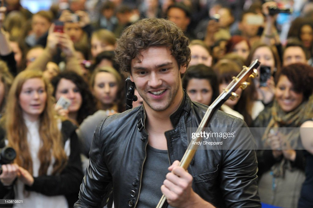 Andy Brown of the band Lawson performs for The Station Sessions Festival 2012 at St Pancras International Station on May 3 2012 in London United...