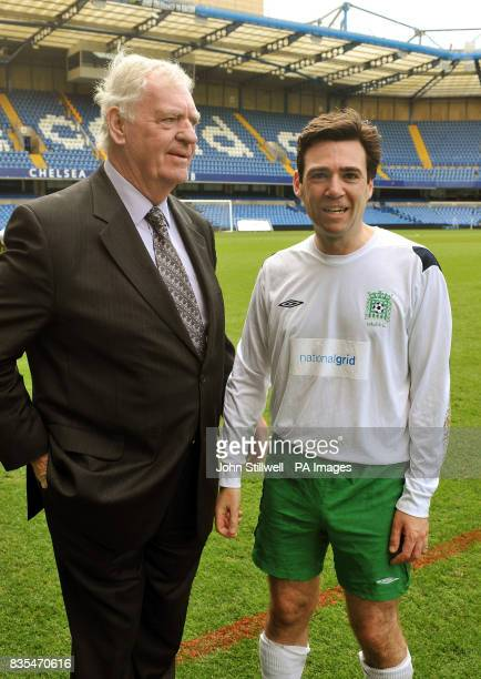 Andy Burnham the Secretary of State for Culture Media Sport with Lawrie McMenemy retired football manager after playing for the UK Parliamentary...