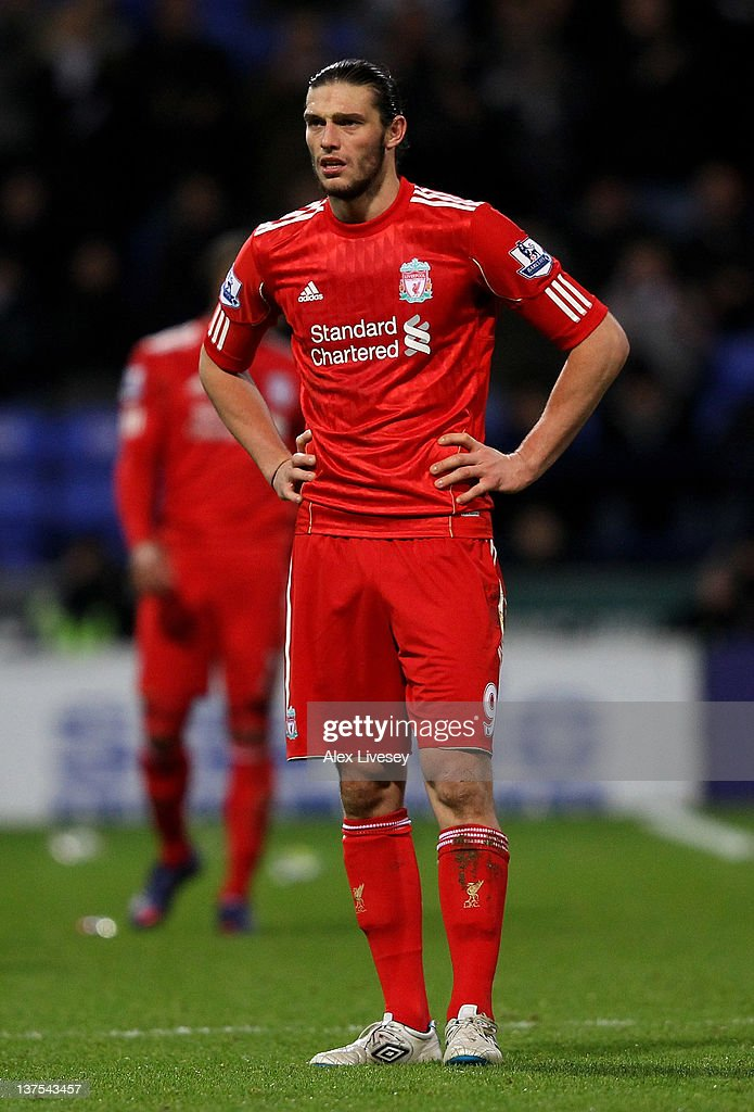 <a gi-track='captionPersonalityLinkClicked' href=/galleries/search?phrase=Andy+Carroll+-+Soccer+Player&family=editorial&specificpeople=1449090 ng-click='$event.stopPropagation()'>Andy Carroll</a> of Liverpool looks on during the Barclays Premier League match between Bolton Wanderers and Liverpool at the Reebok Stadium on January 21, 2012 in Bolton, England.