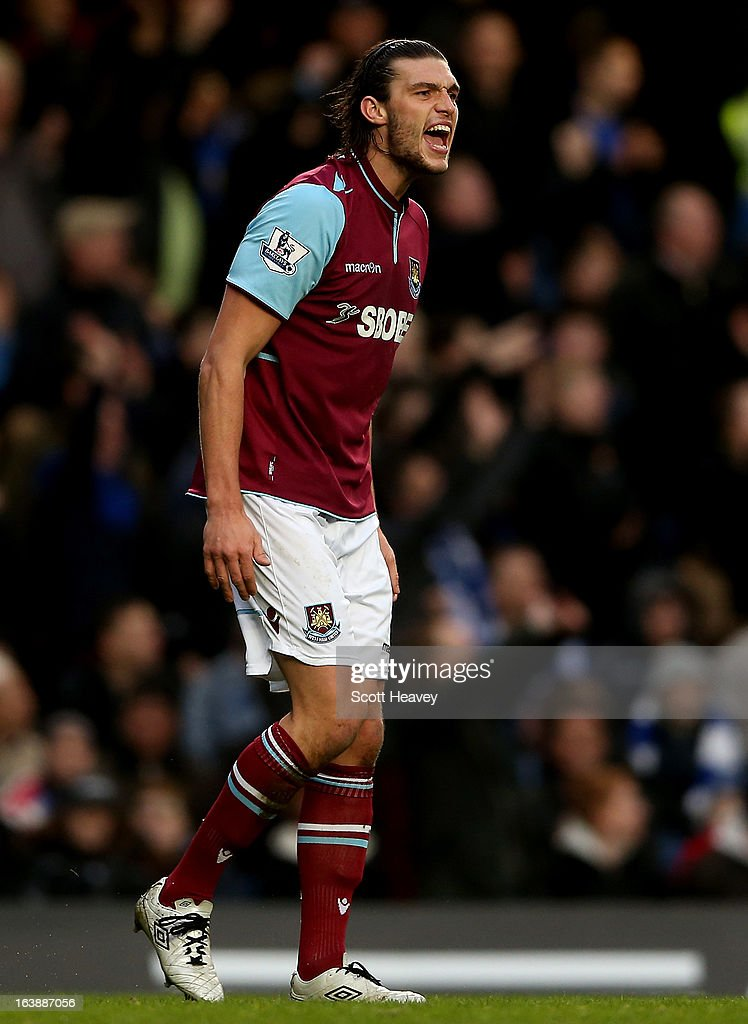 Andy Carroll of West Ham during the Barclays Premier League match between Chelsea and West Ham United at Stamford Bridge on March 17, 2013 in London, England.