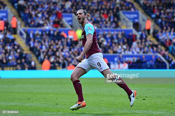 Andy Carroll of West Ham United celebrates after scoring his team's first goal of the game from the penalty spot during the Barclays Premier League...