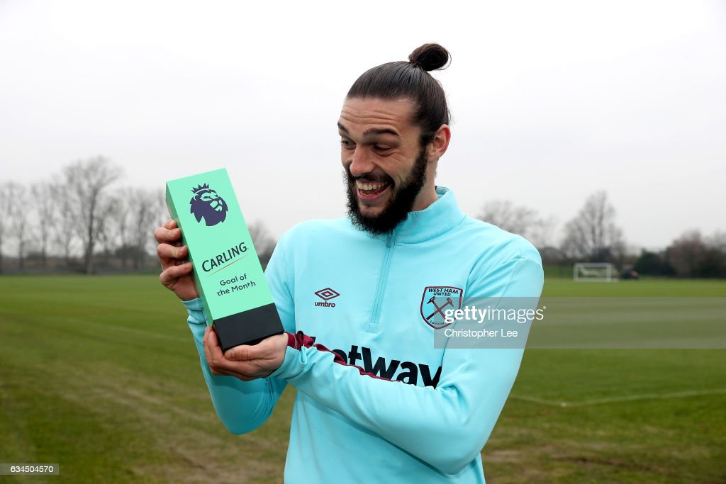 Andy Carroll Receives the Premier League Goal of the Month Award