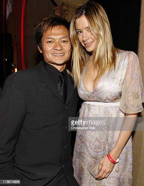 Andy Cheng and Mira Sorvino during 'Redline' Los Angeles Premiere After Party at Roosevelt Hotel in Hollywood California United States