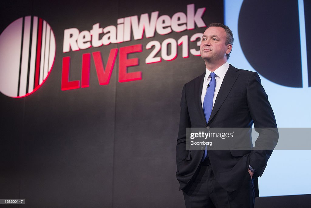 Andy Clarke, chief executive officer of Asda Plc, owned by Wal-Mart Stores Inc., pauses whilst speaking at the Retail Week conference in London, U.K., on Wednesday, March 13, 2013. Asda said it will continue to reduce prices on basic food products such as bread, milk and eggs to lure cash-starved shoppers away from discount rivals. Photographer: Simon Dawson/Bloomberg via Getty Images