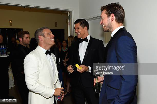 Andy Cohen and Fredrik Eklund attend the 2015 amfAR Inspiration Gala New York at Spring Studios on June 16 2015 in New York City
