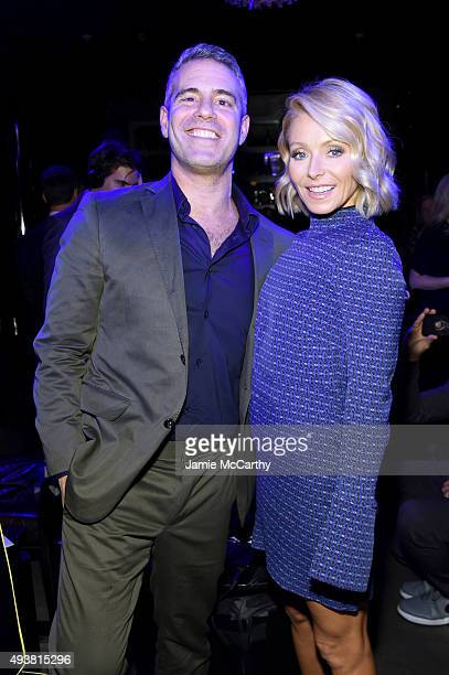 Andy Cohen and Kelly Ripa attend Andy Cohen SiriusXM celebrate the launch of Cohen's New Exclusive SiriusXM Channel Radio Andy at PHD Rooftop Lounge...