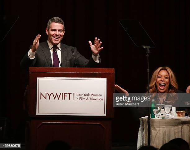 Andy Cohen and Wendy Williams attend New York Women In Film And Television's 33rd Annual Muse Awards at New York Hilton on December 12 2013 in New...