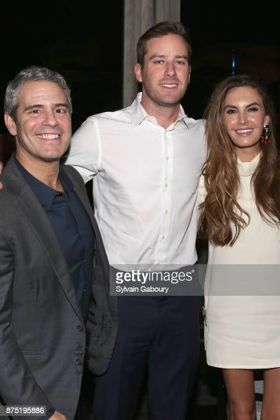 Andy Cohen Armie Hammer and Elizabeth Chambers attend Calvin Klein and The Cinema Society host the after party for Sony Pictures Classics' 'Call Me...