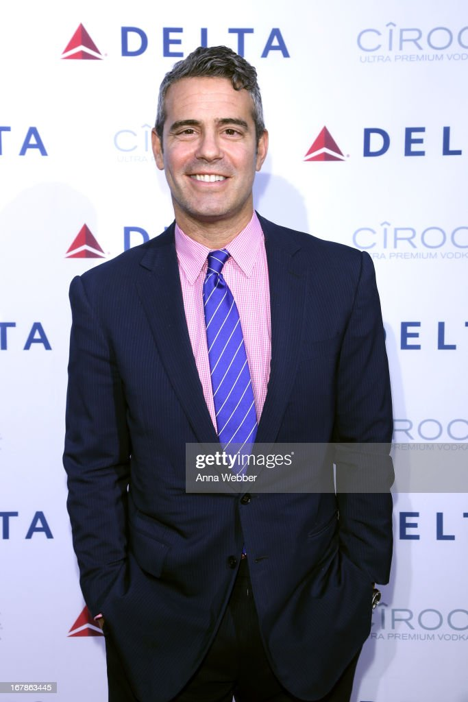 <a gi-track='captionPersonalityLinkClicked' href=/galleries/search?phrase=Andy+Cohen+-+Television+Personality&family=editorial&specificpeople=7879180 ng-click='$event.stopPropagation()'>Andy Cohen</a> attends as Delta Air Lines celebrate the opening night of T4X, a pop up experience showcasing distinctive features of the airline's newly transformed international hub at JFK's Terminal 4 on May 1, 2013 in New York City.
