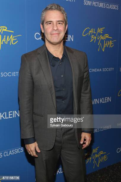 Andy Cohen attends Calvin Klein and The Cinema Society host a screening of Sony Pictures Classics' 'Call Me By Your Name' on November 16 2017 in New...