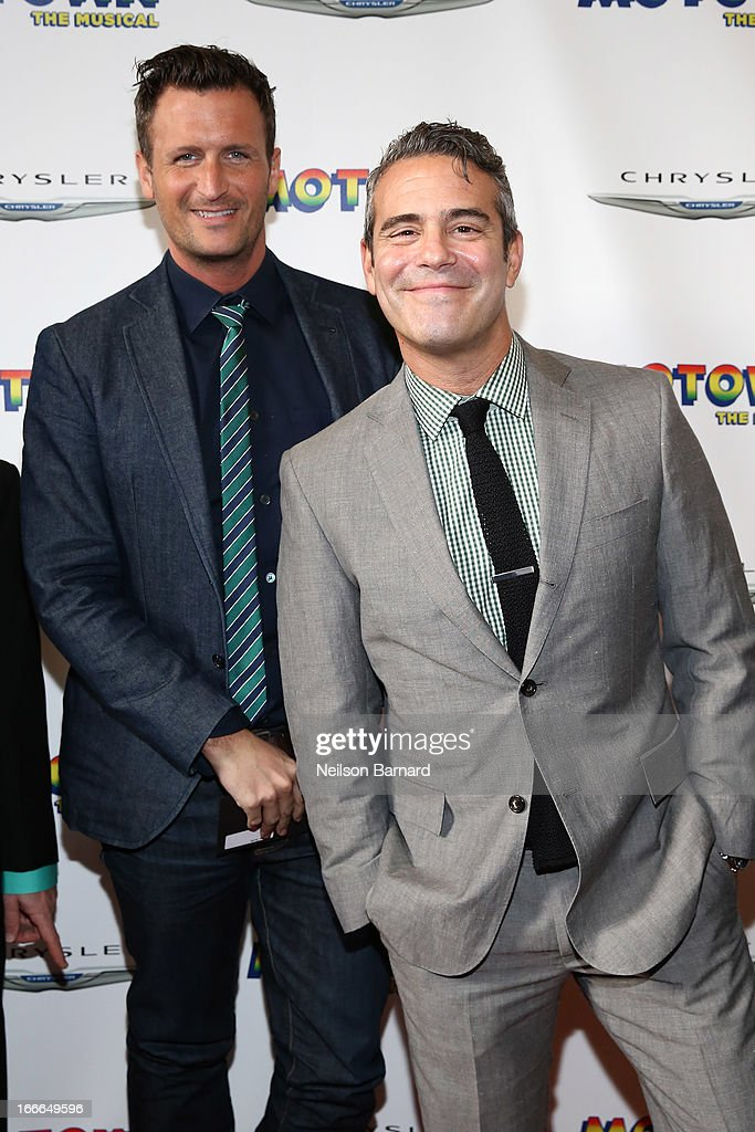Andy Cohen (R) attends the Broadway opening night for 'Motown: The Musical' at Lunt-Fontanne Theatre on April 14, 2013 in New York City.