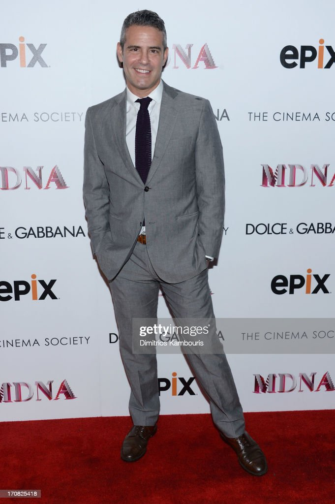 <a gi-track='captionPersonalityLinkClicked' href=/galleries/search?phrase=Andy+Cohen+-+Television+Personality&family=editorial&specificpeople=7879180 ng-click='$event.stopPropagation()'>Andy Cohen</a> attends the Dolce & Gabbana and The Cinema Society screening of the Epix World premiere of 'Madonna: The MDNA Tour' at The Paris Theatre on June 18, 2013 in New York City.