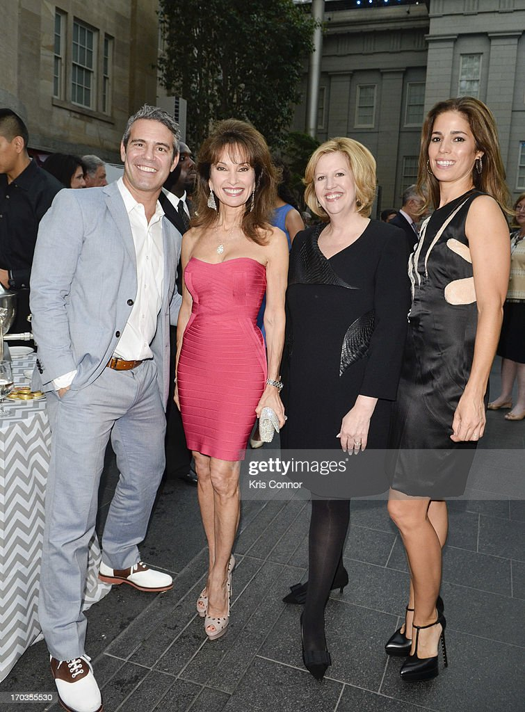 Andy Cohen, Susan Lucci, Abbe Raven and Anna Ortiz pose for photo during a NCTA reception hosted by A+E Networks at Smithsonian American Art Museum & National Portrait Gallery on June 11, 2013 in Washington, DC.