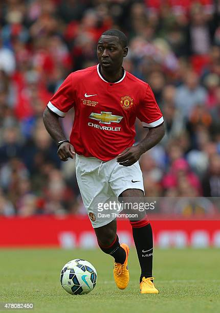Andy Cole of Manchester United Legends during the Manchester United Foundation charity match between Manchester United Legends and Bayern Munich All...