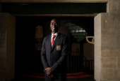 Andy Cole poses during the official Manchester United official lunch at Westin Hotel on July 18 2013 in Sydney Australia