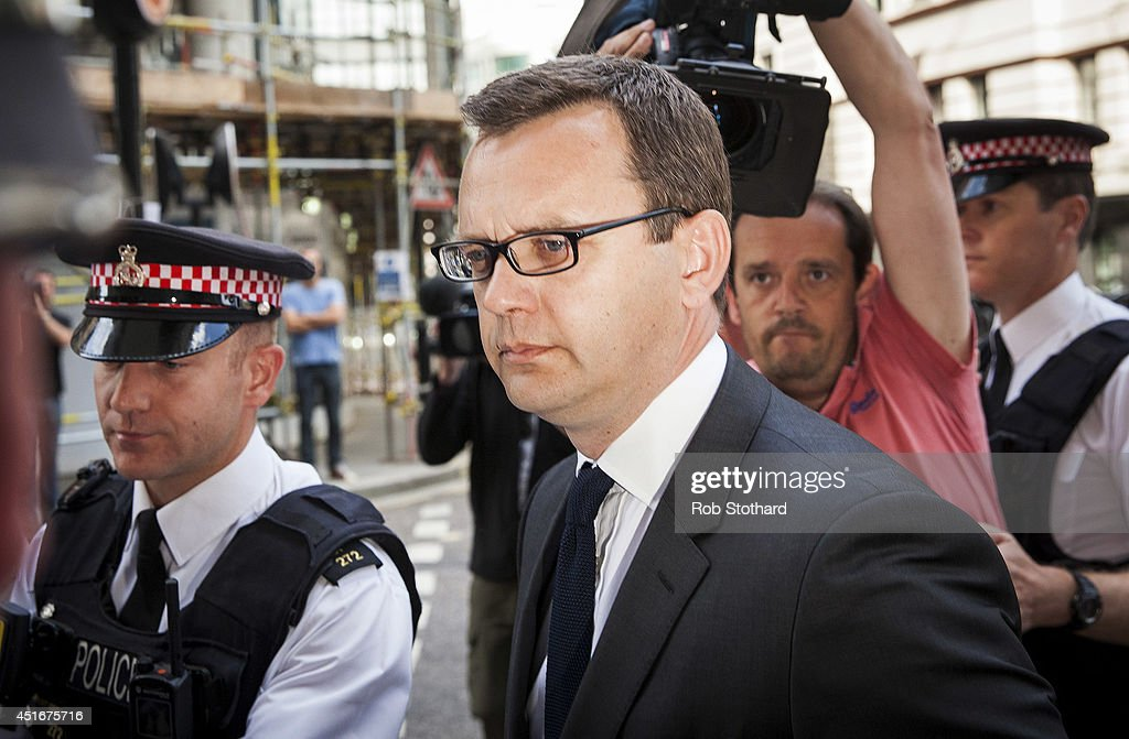 <a gi-track='captionPersonalityLinkClicked' href=/galleries/search?phrase=Andy+Coulson&family=editorial&specificpeople=734849 ng-click='$event.stopPropagation()'>Andy Coulson</a> arrives at the Old Bailey on July 4, 2014 in London, England. Former government director of communications and News of the World newspaper editor, <a gi-track='captionPersonalityLinkClicked' href=/galleries/search?phrase=Andy+Coulson&family=editorial&specificpeople=734849 ng-click='$event.stopPropagation()'>Andy Coulson</a> and five other defendants have been found guilty after a lengthy trial for offences related to the illegal hacking of mobile phones belonging to celebrities, members of the royal family and high profile victims of crime.