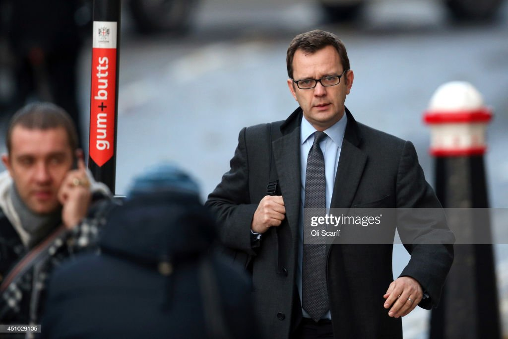 <a gi-track='captionPersonalityLinkClicked' href=/galleries/search?phrase=Andy+Coulson&family=editorial&specificpeople=734849 ng-click='$event.stopPropagation()'>Andy Coulson</a> arrives at the Old Bailey on November 21, 2013 in London, England. Downing Street's former director of communications and News Of The World editor <a gi-track='captionPersonalityLinkClicked' href=/galleries/search?phrase=Andy+Coulson&family=editorial&specificpeople=734849 ng-click='$event.stopPropagation()'>Andy Coulson</a> and the former News International chief executive Rebekah Brooks, along with six others, face a series of charges linked to the phone hacking of celebrities and others at the now-defunct newspaper.