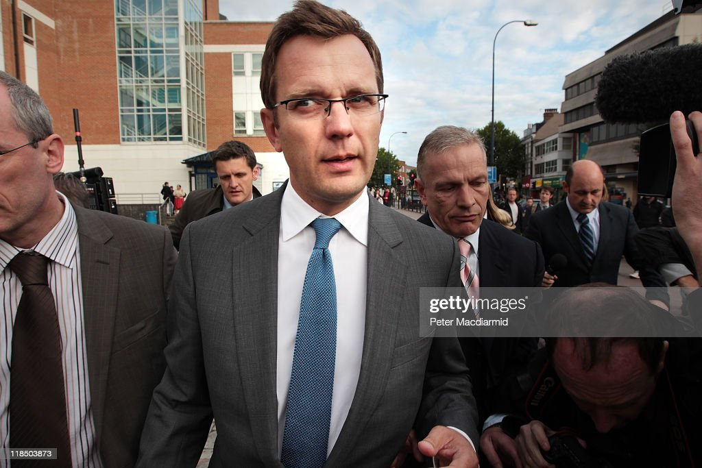 <a gi-track='captionPersonalityLinkClicked' href=/galleries/search?phrase=Andy+Coulson&family=editorial&specificpeople=734849 ng-click='$event.stopPropagation()'>Andy Coulson</a>, former editor of the News of The World newspaper, leaves Lewisham Police station on July 8, 2011 in London, England. Mr Coulson was arrested by police investigating phone hacking.