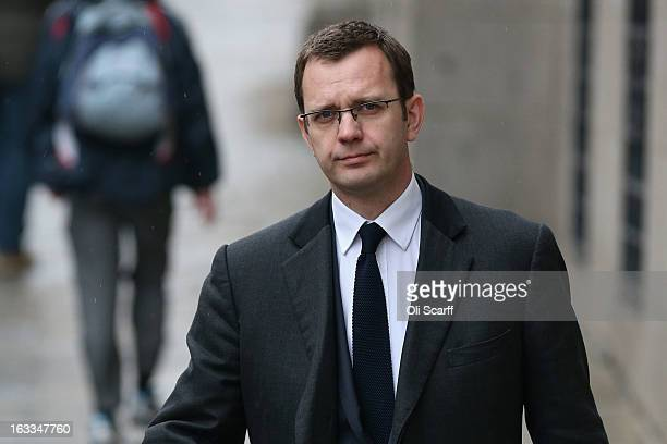 Andy Coulson the former Editor of the defunct 'News of the World' newspaper and former communications director for the Prime Minister arrives at the...