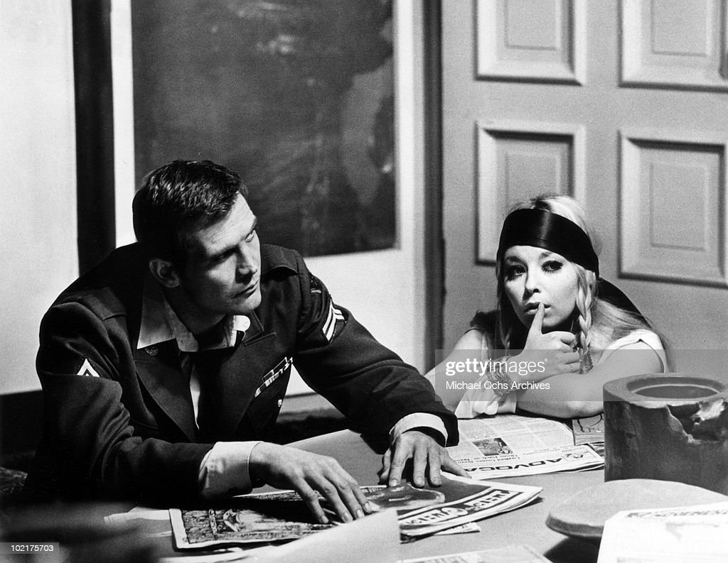Andy Crocker (<a gi-track='captionPersonalityLinkClicked' href=/galleries/search?phrase=Lee+Majors&family=editorial&specificpeople=730151 ng-click='$event.stopPropagation()'>Lee Majors</a>) sits at a table with Karen (<a gi-track='captionPersonalityLinkClicked' href=/galleries/search?phrase=Jill+Haworth&family=editorial&specificpeople=224879 ng-click='$event.stopPropagation()'>Jill Haworth</a>) in a scene from the movie 'Ballad Of Andy Crocker' which was released on November 18, 1969.