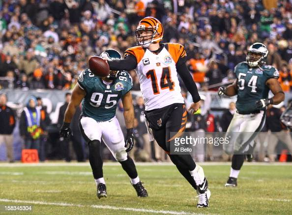 Andy Dalton of the Cincinnati Bengals runs for a touchdown during their game against the Philadelphia Eagles at Lincoln Financial Field on December...