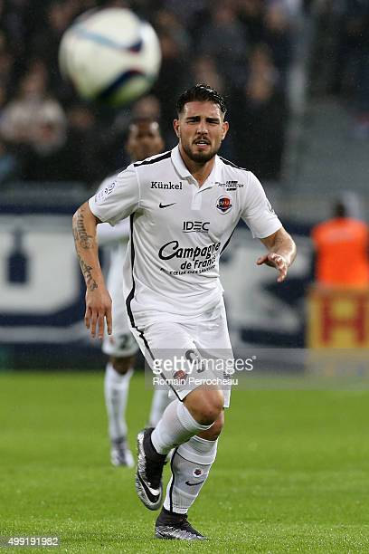 Andy Delort for Stade Malherbe de Caen in action during the French Ligue 1 game between FC Girondins de Bordeaux and Stade Malherbe de Caen at Stade...