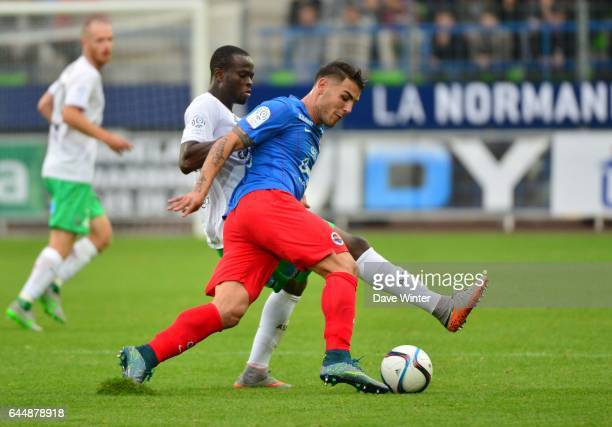 Andy DELORT / Ismael Tiemoko DIOMANDE Caen / St Etienne 9e journee de Ligue 1 Photo Dave Winter / Icon Sport