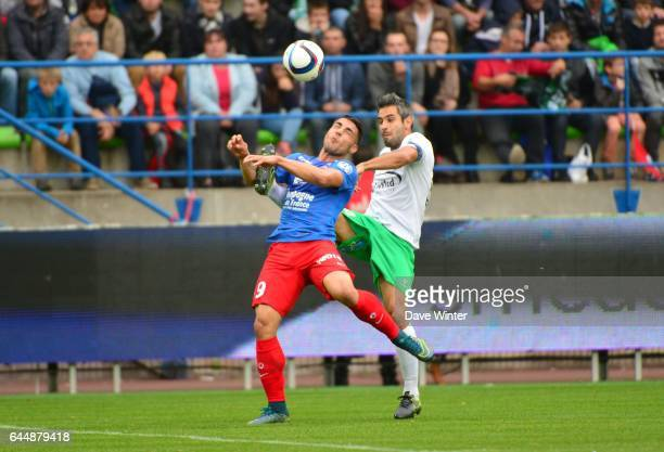 Andy DELORT / Loic PERRIN Caen / St Etienne 9e journee de Ligue 1 Photo Dave Winter / Icon Sport