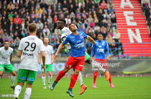 Andy DELORT / Moustapha SALL Caen / St Etienne 9e journee de Ligue 1 Photo Dave Winter / Icon Sport