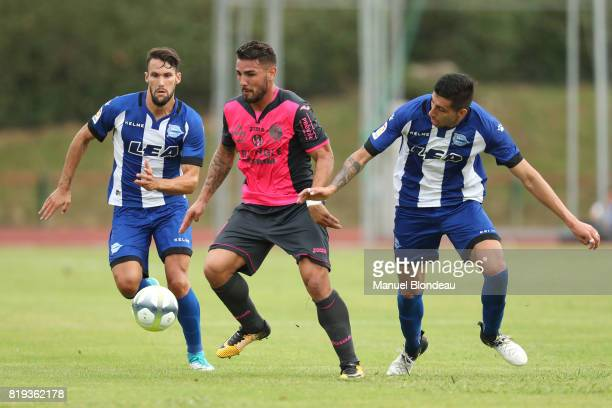 Andy Delort of Toulouse during the friendly match between Toulouse FC and Deportivo Alaves on July 19 2017 in Saint Jean de Luz France