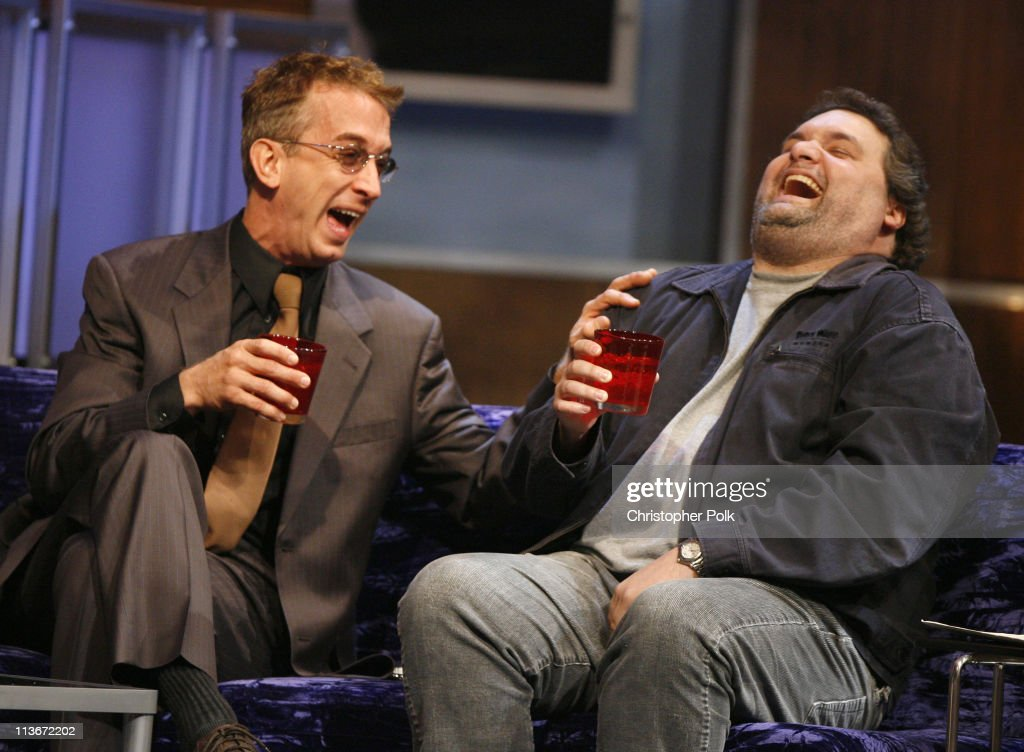 Andy Dick and Artie Lange during Comedy Central's Roast of William Shatner Show at CBS Studio Center in Studio City California United States