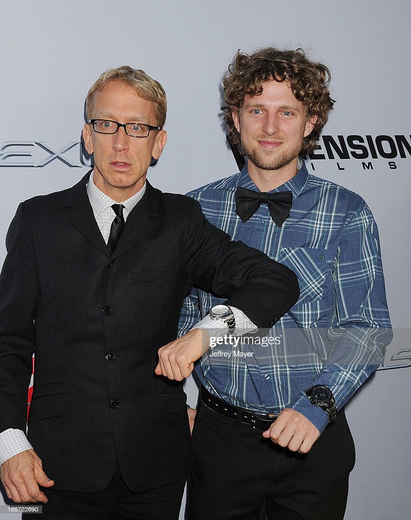 <a gi-track='captionPersonalityLinkClicked' href=/galleries/search?phrase=Andy+Dick&family=editorial&specificpeople=171170 ng-click='$event.stopPropagation()'>Andy Dick</a> and son Jason Dick arrives at the 'Scary Movie V' - Los Angeles Premiere at ArcLight Cinemas Cinerama Dome on April 11, 2013 in Hollywood, California.
