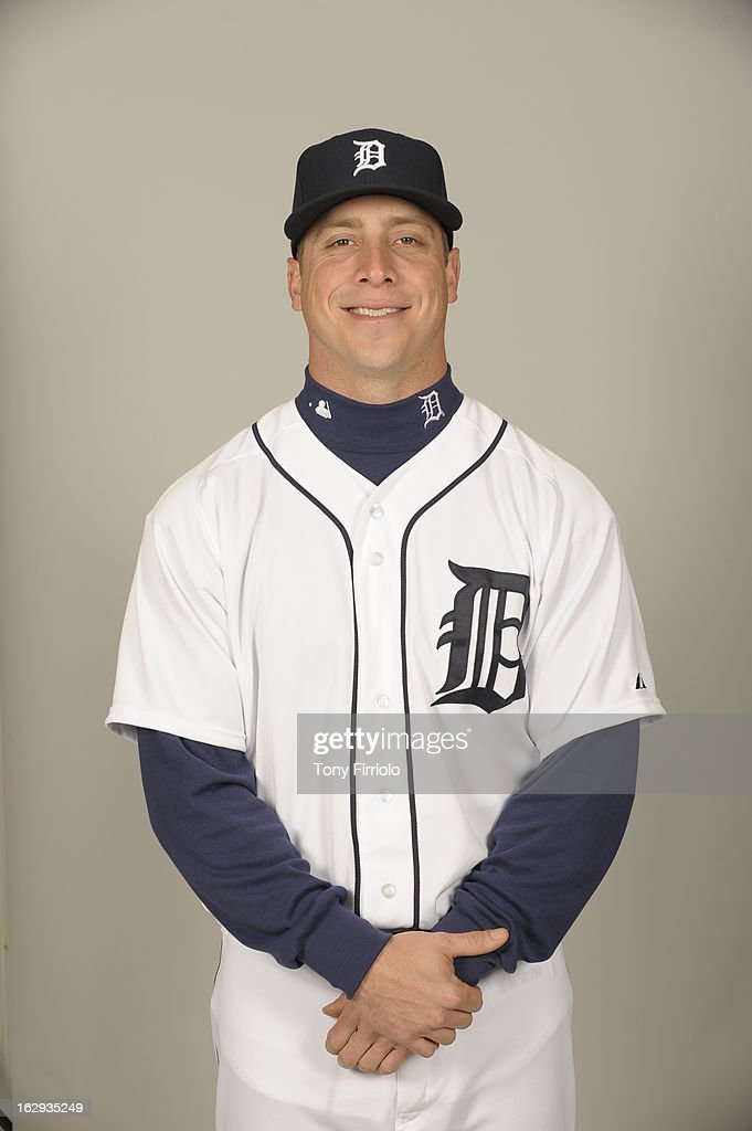 <a gi-track='captionPersonalityLinkClicked' href=/galleries/search?phrase=Andy+Dirks&family=editorial&specificpeople=7511216 ng-click='$event.stopPropagation()'>Andy Dirks</a> #12 of the Detroit Tigers poses during Photo Day on February 19, 2013 at Joker Marchant Stadium in Lakeland, Florida.