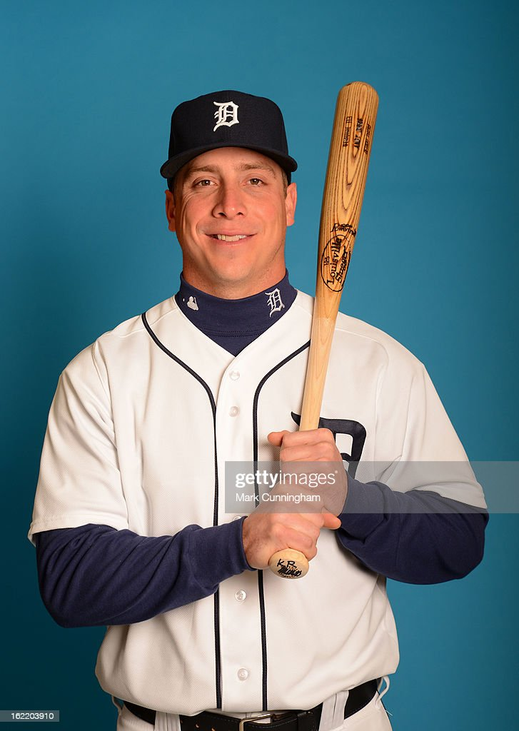 <a gi-track='captionPersonalityLinkClicked' href=/galleries/search?phrase=Andy+Dirks&family=editorial&specificpeople=7511216 ng-click='$event.stopPropagation()'>Andy Dirks</a> #12 of the Detroit Tigers poses for a portrait during MLB photo day at TigerTown on February 19, 2013 in Lakeland, Florida.