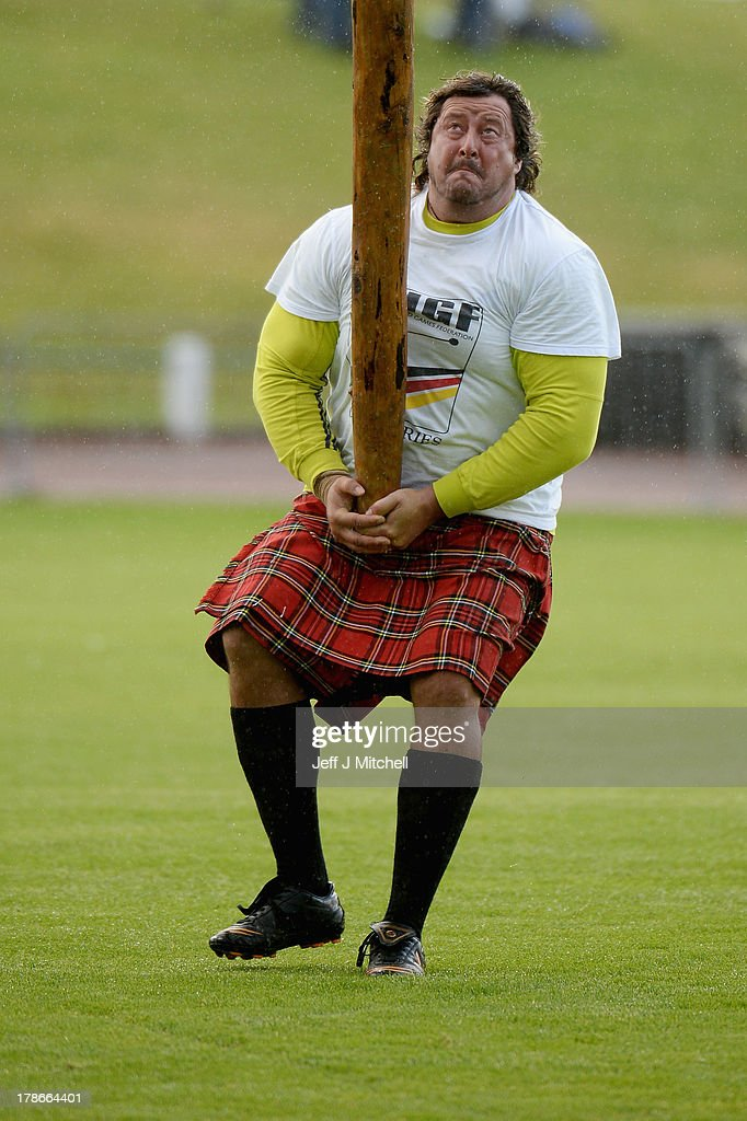 Andy Dueschle competes during the heavy event at the Cowal Highland Gathering on August 30, 2013 in Dunoon, Scotland. First held in 1894, the Cowal Games are held over three days and are one of the largest in the world attracting competitors from Canada, USA, South Africa, Australia and New Zealand.