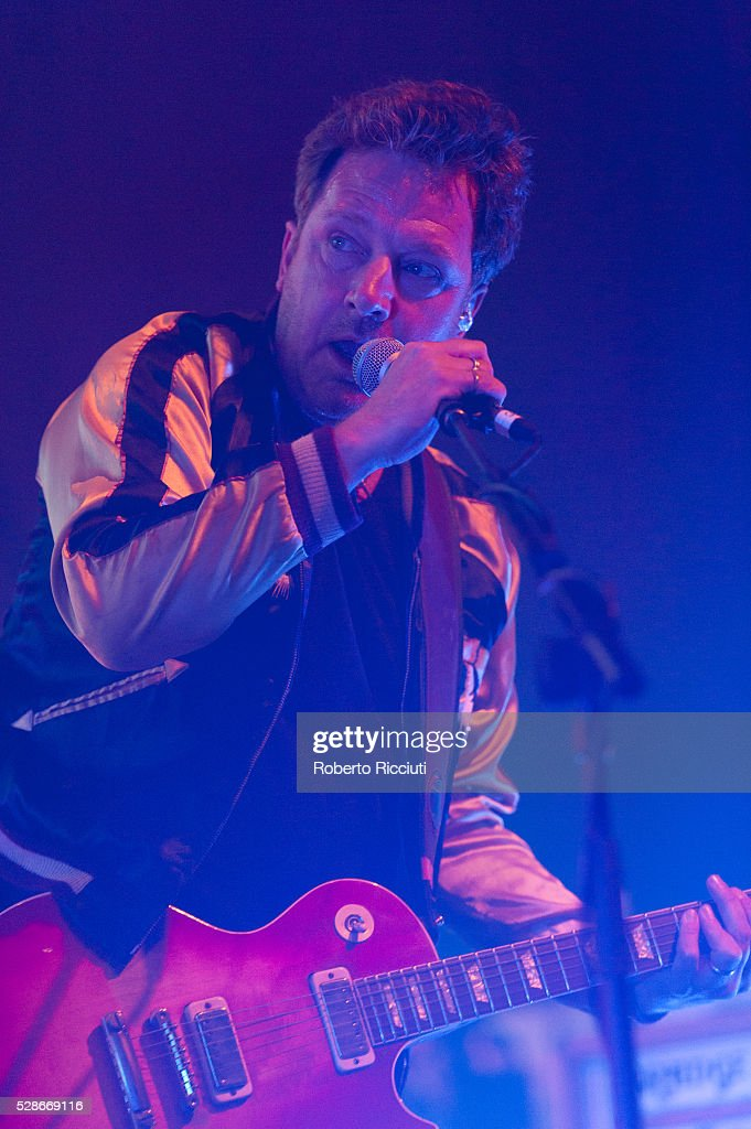 Andy Dunlop of Scottish rock band Travis performs live on stage at O2 ABC Glasgow on May 6, 2016 in Glasgow, Scotland.