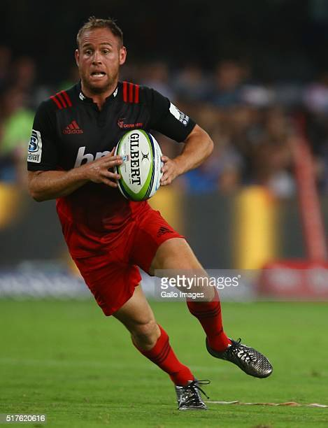 Andy Ellis of the BNZ Crusaders during the Super Rugby match between Cell C Sharks and BNZ Crusaders at Growthpoint Kings Park on March 26 2016 in...