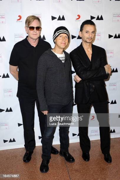 Andy Fletcher Dave Gahan and Martin Gore attend Depeche Mode Album Launch Event at MuseumsQuartier on March 24 2013 in Vienna Austria