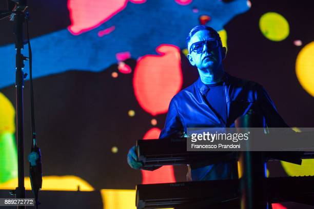 Andy Fletcher of Depeche Mode perform at Pala Alpitouron stage on December 9 2017 in Turin Italy