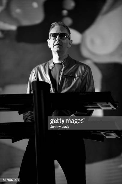 Andy Fletcher of Depeche Mode performs during the Global Spirit Tour at American Airlines Arena on September 15 2017 in Miami Florida