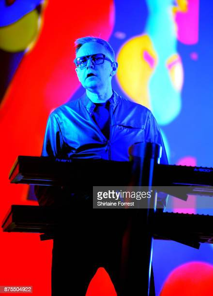 Andy Fletcher of Depeche Mode performs live on stage at Manchester Arena on November 17 2017 in Manchester England