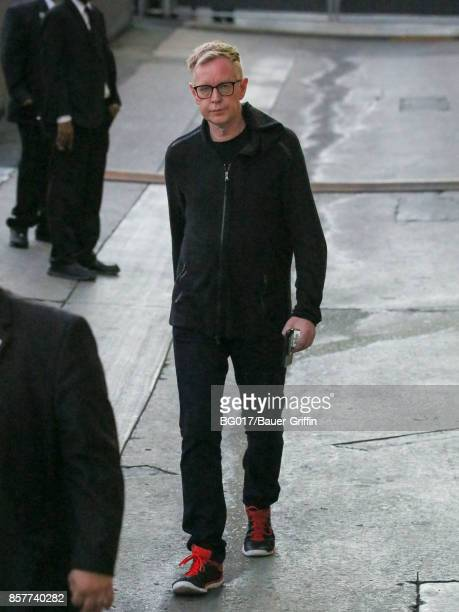 Andy Fletcher of music band 'Depeche Mode' is seen at 'Jimmy Kimmel Live' on October 04 2017 in Los Angeles California
