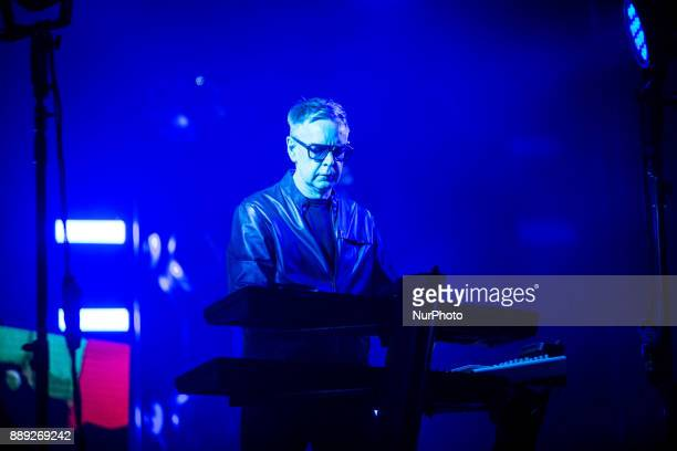Andy Fletcher of the english electronic band Depeche Mode performing live at Pala Alpitour Italy in Turin Italy on 9 December 2017